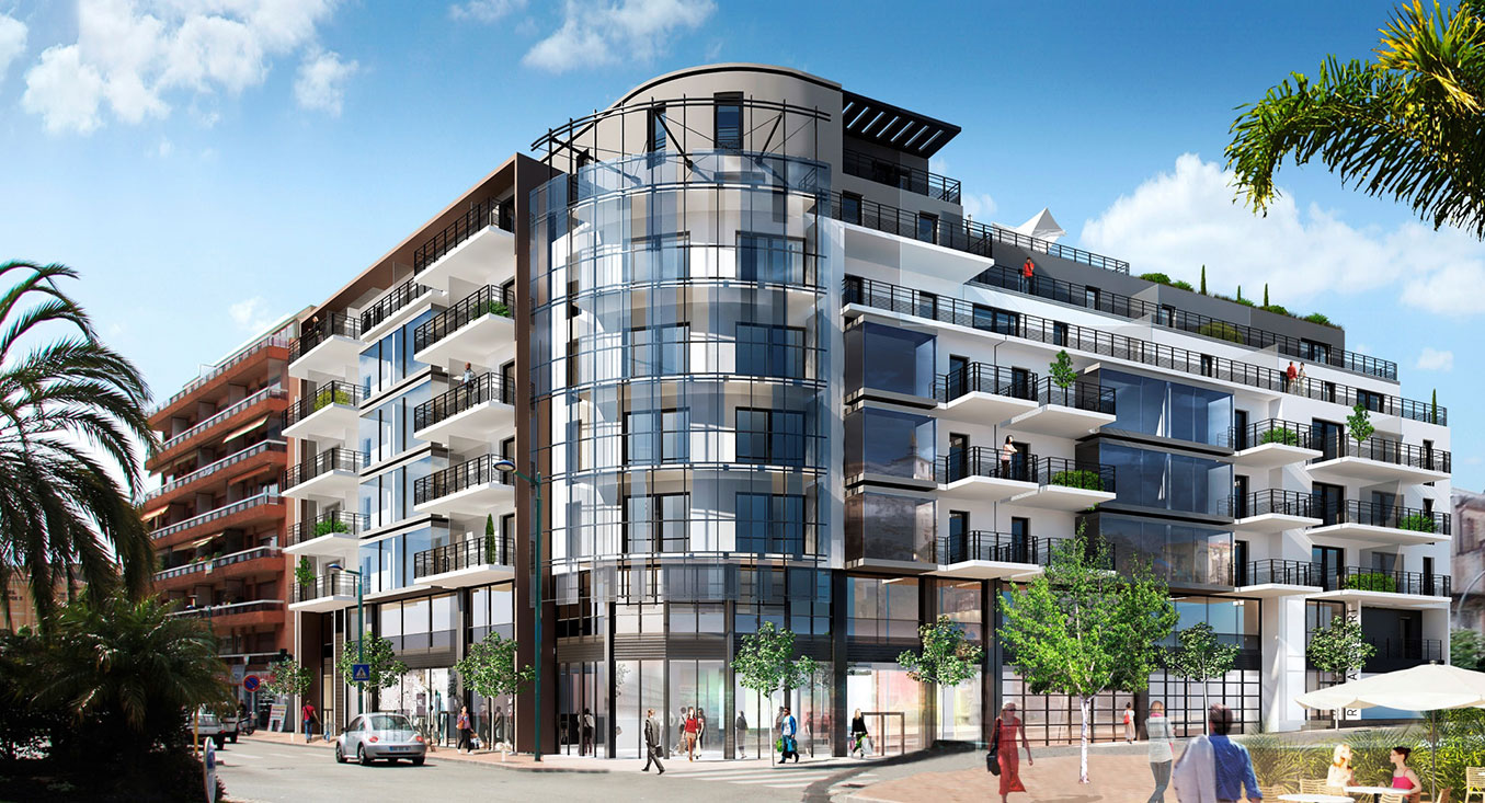 View CGI of the cap riviera real estate programme